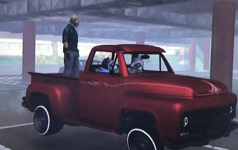 That's Dragon in the back of Fernando's GTA slamvan.